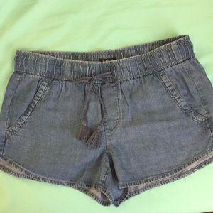 Denim shorts elastic waist 4 pockets Cute